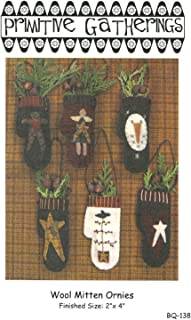 Wool Mitten Ornies by Lisa Bongean from Primitive Gatherings Christmas Ornament patterns - 2