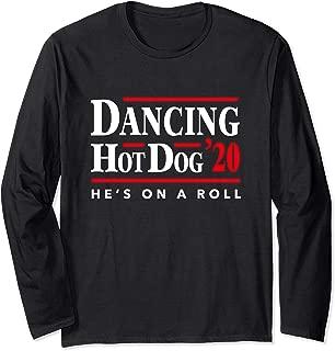 Dancing Hot Dog 2020 - Hot Dog Meme Filter Long Sleeve T-Shirt