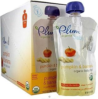 Plum Organics Second Blends Pumpkin & Banana (6x4oz)