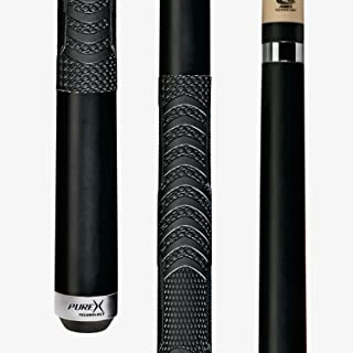 Players HXTC13 Billiard Pool Cue PureX Midnight Black Forearm and Butt with Mz Multi-Zone Grip, Kamui Tip, 19-Ounce, 11.75 mm