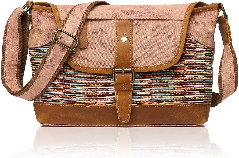 APHISON Ladies Canvas Shoulder Bag Large Shopping Bag Handbag for Women 3001