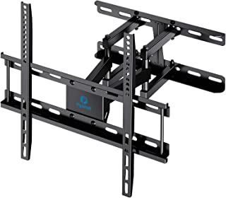 "TV Wall Mount Dual Articulating Arms, Full Motion Swivel Extension Tilt TV Mount, Fits for Most 26""-55"" Flat Curved TVs wi..."