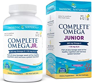 Nordic Naturals Complete Omega Junior - Promotes Brain, Bone, Nervous and Immune System Health, 180 Count