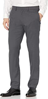 Kenneth Cole REACTION mens Shadow Check Stretch Slim Fit Dress Pant Dress Pants