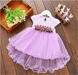 48b9d124ca TTMOW Infant Toddler Baby Girl Dresses Princess Floral Front Fluffy  Sleeveless Dress