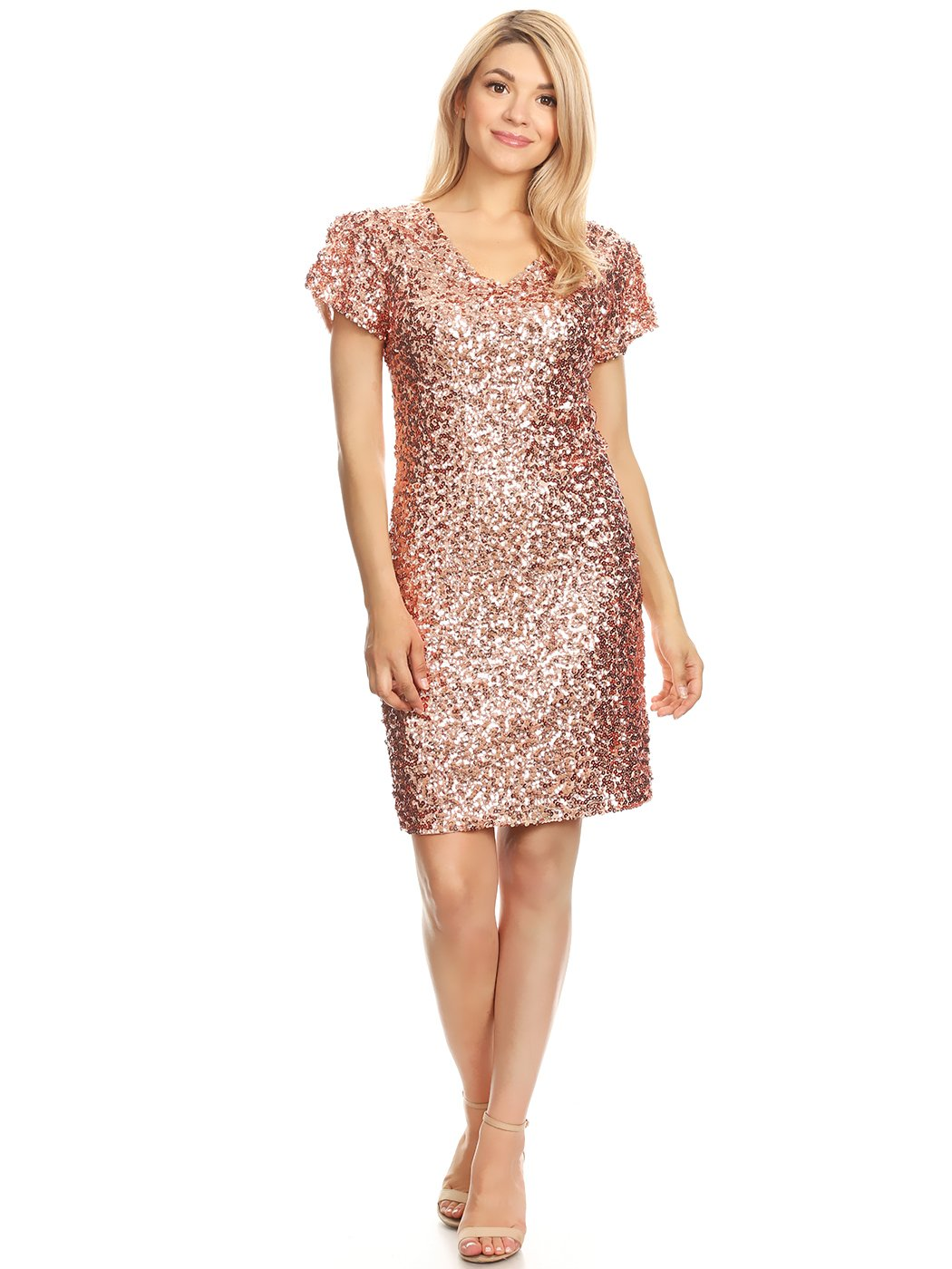 Available at Amazon: Anna-Kaci Women's Sexy Short Sleeve Sequin Bodycon Mini Cocktail Party Club Dress