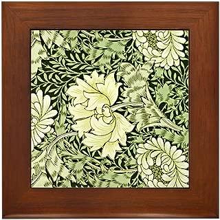 CafePress Morris Chrysanthemum Framed Tile, Decorative Tile Wall Hanging