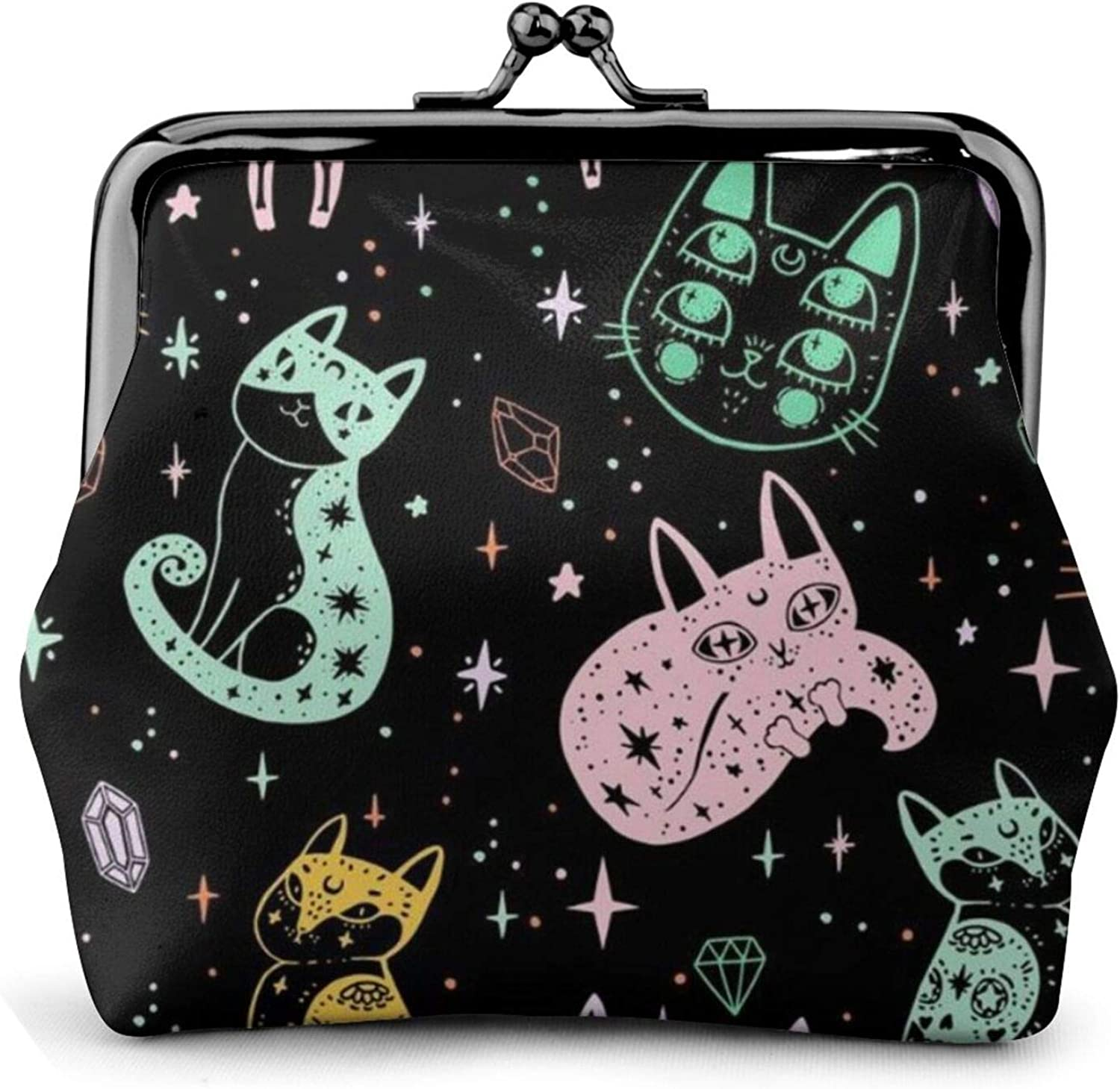 Coin Purse Luxury goods Witch'S Cat Wallet Makeup Travel Buckle Washington Mall Chang Leather