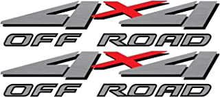 Vinylmark LLC Replacement 4x4 Bedside Decals - 1999 to 2001 Off Road Fits Ford Trucks (Silver)