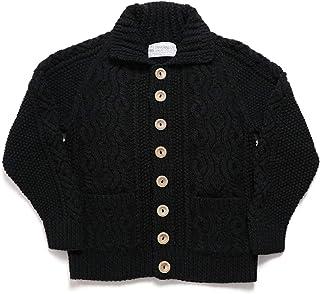 [インバーアラン] INVERALLAN Denim Yarn 3A Cable Cardigan Wood Buttons