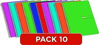 Colori Assortiti Confezione 12 pezzi Carta 80g//mq Quaderno Formato A5 Quadretti 4 mm Rigatura 4 mm BM BeMore Color 80 0110597