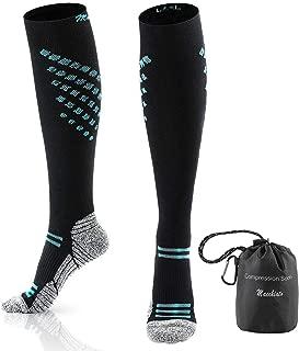 Macchiato Compression Socks for Women & Men 20-30mmhg Best Athletic Medical Running Flight Travel Pregnant 1pair