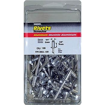 Rivet 4 mm PK100 Part # Duratool dtrsr 4100 W 10 mm bianco Nylon 6