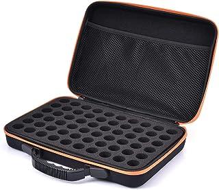 Brownrolly Boîte Huile Essentielle, Mallette de Transport d'huile Essentielle à 60 Compartiments pour Organisateur de Rang...