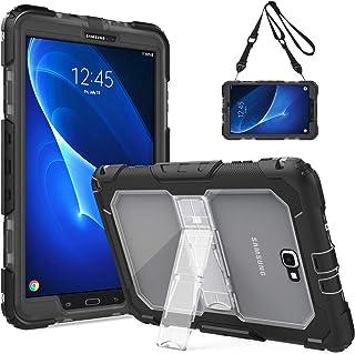 TiMOVO Samsung Galaxy Tab A 10.1 Funda - Shockproof Híbrido Resistente Smart Cover Case para Samsung Galaxy Tab A 10.1 Pulgada, Negro y Transparente