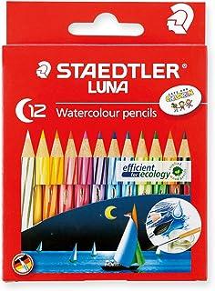 ステッドラー 色鉛筆 12色 水彩色鉛筆 ルナ ショートタイプ 1371001C12