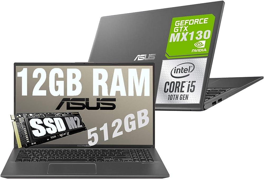 Asus vivobook slim pc portatile cpu intel i5 di 10th gen quad core ssd m2 512gb vga intel uhd mx130 2gb ASUS X512J