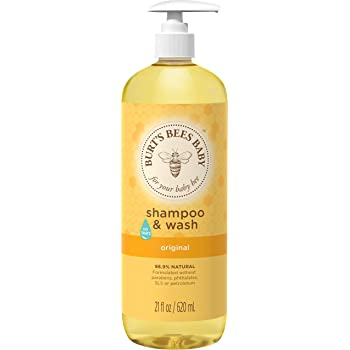 Burt's Bees Baby Shampoo & Wash, Original Tear Free Baby Soap - 21  Ounce Bottle