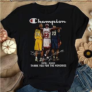 For Big Fans Of Basketball Champion-Kobe-Bryant-Michael-Jordan-Lebron-James-1978-2020-Thank You For All Beautiful Memories T-Shirt_Long Sleeve_Sweatshirt_Hoodie Handmade Shirt For You