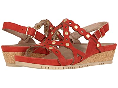 Earth Leo (Bright Coral Silky Suede) Women