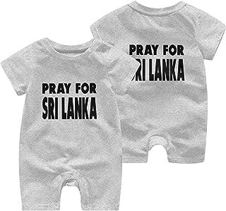 A1BY-5US Newborn Infant Baby Girls Boys Romper Jumpsuit Pray for Sri Lanka Cotton Short Sleeve Romper Suit