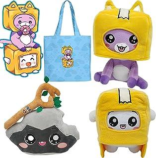 Ensemble de 4 Peluches Foxy et Boxy et Rocky livré avec Le même Sac en Toile Foxy et Boxy, Cadeau de poupée Foxy & Boxy & ...