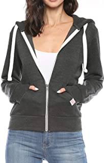 Womens Active Long Sleeve Fleece Zip Up Hoodie with Plus Size