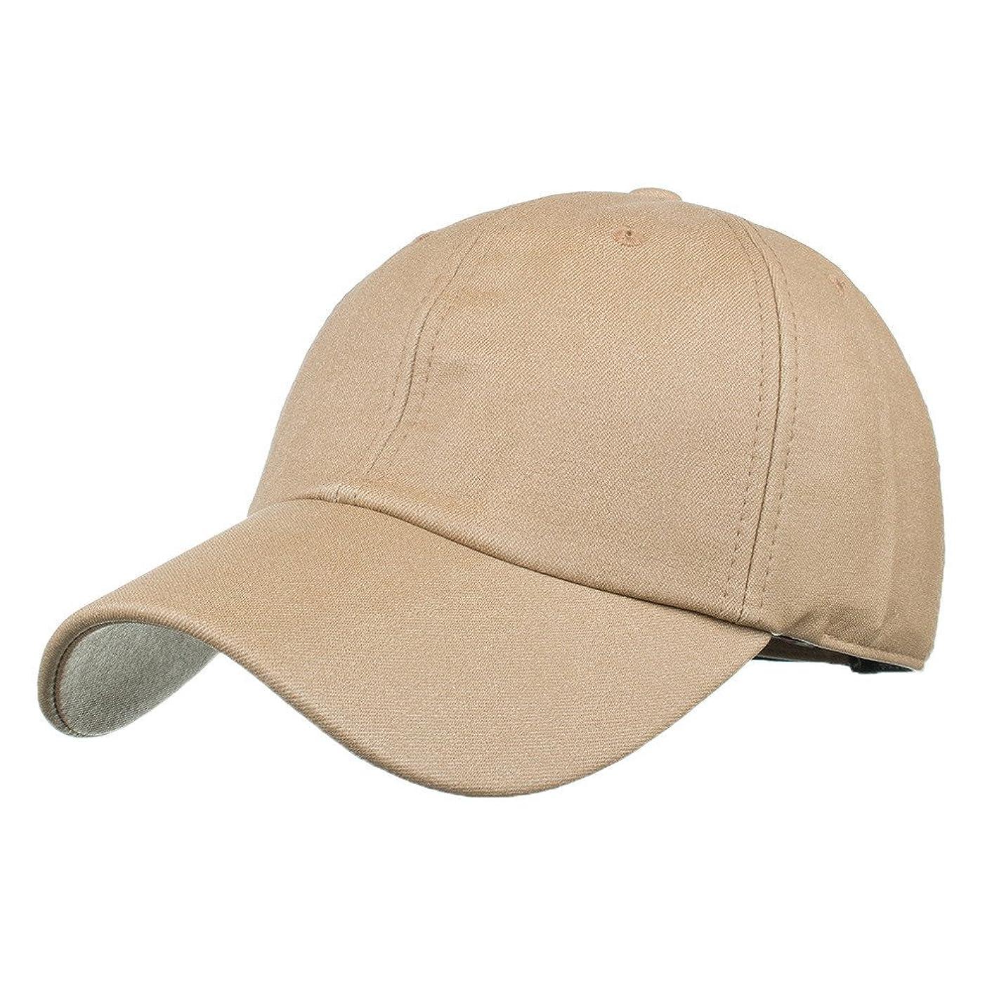 チェリーかんがい潜水艦Racazing Cap PU 無地 ヒップホップ 野球帽 通気性のある 帽子 夏 登山 可調整可能 棒球帽 UV 帽子 軽量 屋外 Unisex Hat (カーキ)