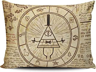 SALLEING Custom Royal Modern Modern Gravity Falls Bill Cipher Decorative Pillowcase Pillowslip Throw Pillow Case Cover Zippered One Side Printed 12x16 Inches