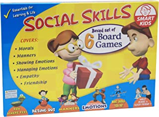 Didax Educational Resources Social Skills Board Games (6 Pack), Multicolor