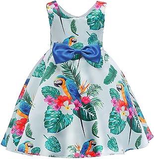 SiQing - Vestido de Fiesta para niña con diseño Floral de Primavera, Vestido de Fiesta de cumpleaños para Dama de Honor