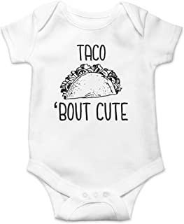 Taco 'Bout Cute - Funny Spanish Food Pun - Nacho Average Guy - Cute One-Piece Infant Baby Bodysuit