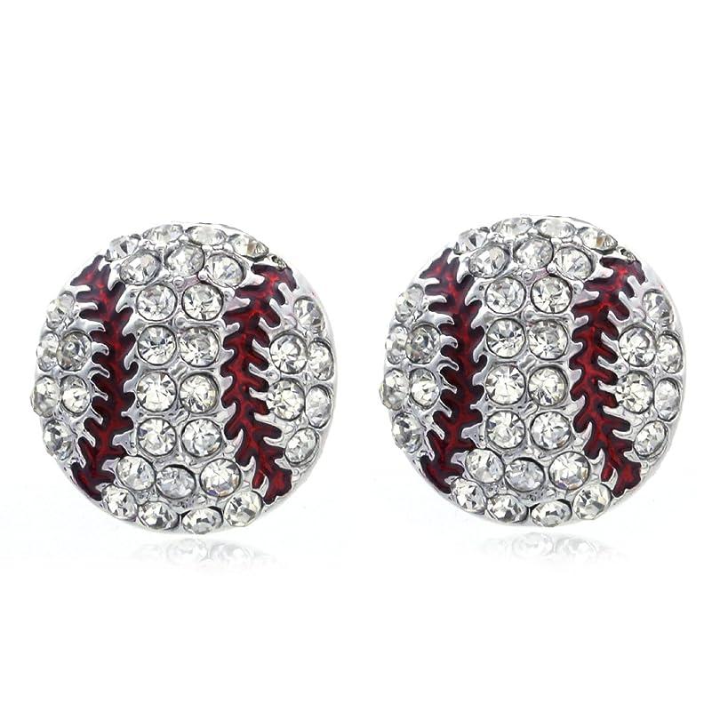 SoulBreeze I Heart Love Baseball Sport Dangle Stud Post Earrings Necklace Pendant Set