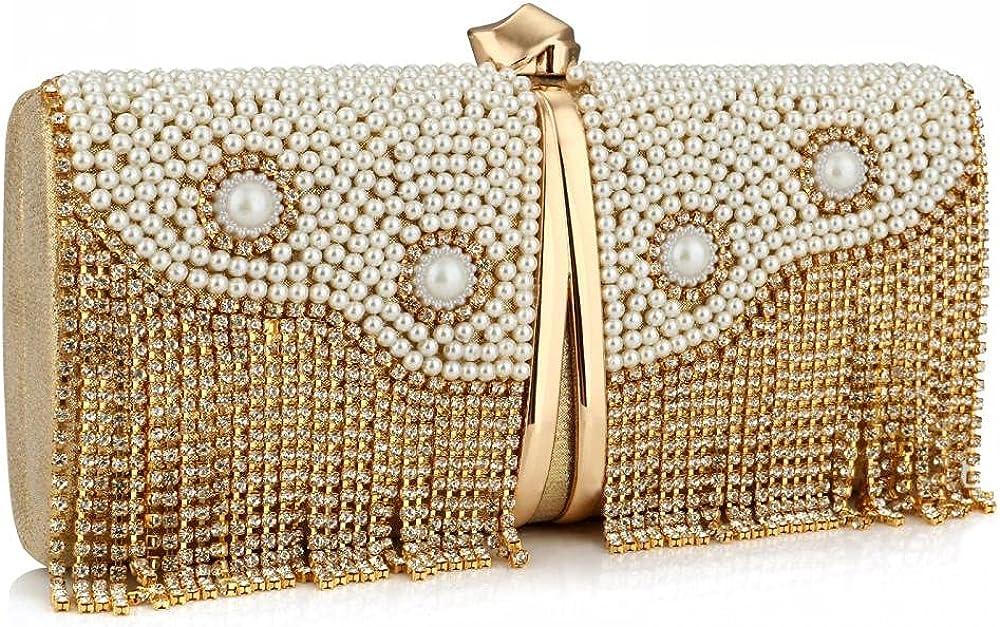 Womens Evening Clutch Bag, Rhinestone Crystal Clutch Purse, Ladies Party Wedding Evening Bag
