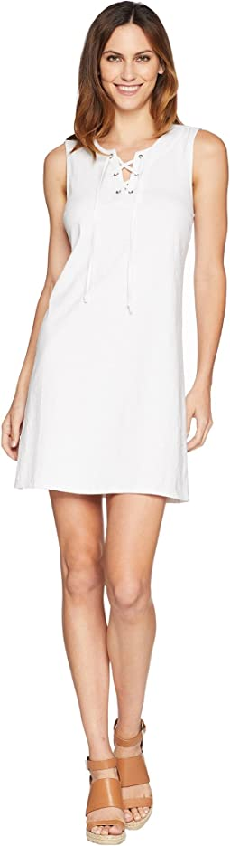 Jer-Sea Sleeveless Tie Front Dress