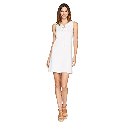 Tommy Bahama Jer-Sea Sleeveless Tie Front Dress (White) Women