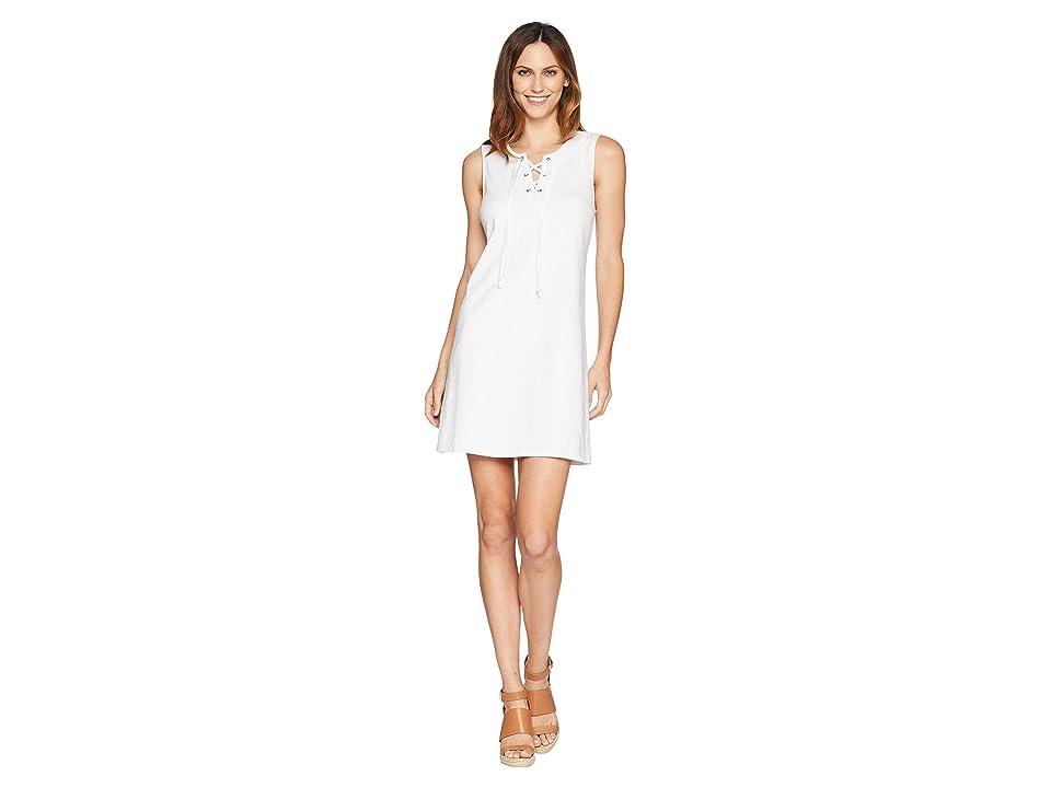 Tommy Bahama Jer-Sea Sleeveless Tie Front Dress (White) Women