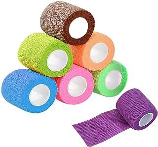 Lvcky 9 Stks Cohesive Bandage Elastische Zelfklevende Bandage Huisdier Wikkel Bandage Tape Zelfklevende Bandage Zelfkleven...