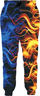 Loveternal Unisex 3D Graphic Joggers with Drawstring Pockets Training Sweatpant