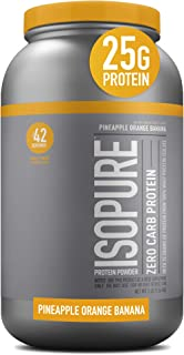 Sponsored Ad - Isopure Zero Carb, Vitamin C and Zinc for Immune Support, 25g Protein, Keto Friendly Protein Powder, 100% W...