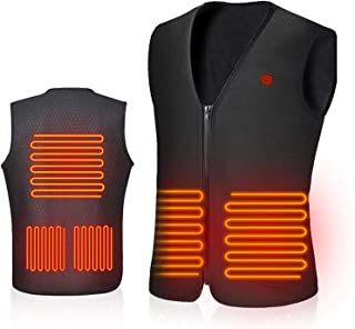 Warming Heated Vest for Men Women Rechargeable and Washable, AiBast Electric Smart Vest with USB Charger (NO Battery)