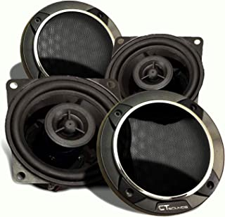 CT Sounds Strato 4 Inch Car Audio Coax Door Speaker Set - Pair