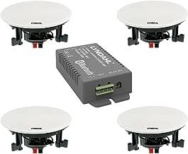 Lyndahl CS200BT Conjunto Opcional con 2 o 4 Altavoces Incl. Amplificador Bluetooth, Altavoz para Montaje en Techo, Bluetooth, Altavoz de Techo con AUX-IN con 4 Altavoces
