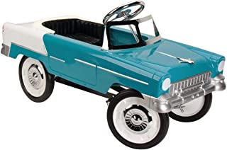 1955 All Steel Construction Chevy Pedal car Blue and White