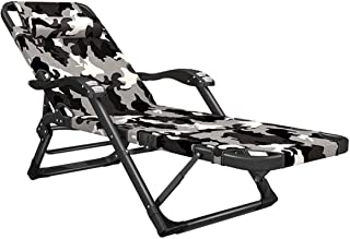 Recliner Office Lounge Chair   Adjustable Footrest and Backrest   Sun Lounger   Outdoor Seat   Zero Gravity Chairs   Foldi...