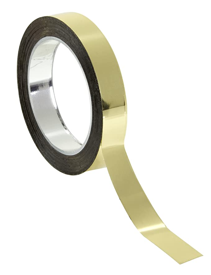 Chartpak Graphic Art Tape, 1/4 Inch W x 324 Inch L, Gold Mylar Metallic, 1 Roll (BG2509)