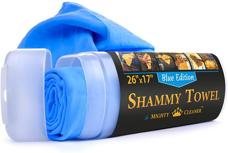 "Premium Chamois Max 68% OFF Cloth for Topics on TV Car 26""x17""- - Blue Sham"