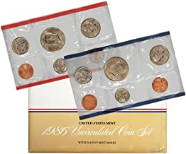 1986 Various Mint Marks P & D United States US Mint 10 Coin Uncirculated Mint Set Uncirculated