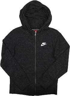 Nike Girl's Sportswear Gym Vintage Full Zip Hoodie | Anthracite/Sail