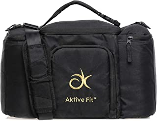 AktiveFit Unisex Multi Compartment Insulated Lunch Bag, Black - BAG3251